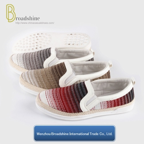 2017 Comfort Walking Woven Lady Shoe with Hemp Rope Foxing