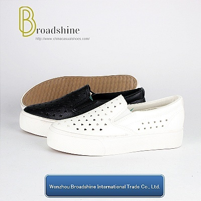 Breathable PU Slip-on Platform Footwear for Girls and Ladies