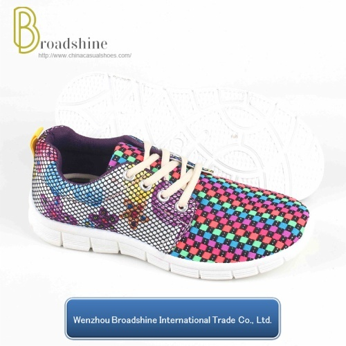 Colorful Elastic Upper Running Shoes for Wholesale