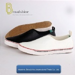 Plain PU Slip-on Casual Men's Footwear with Vulcanized Outsole