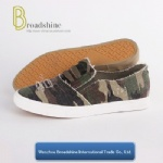 Girls and Boys Casual Shoes with Camouflage Canvas Upper