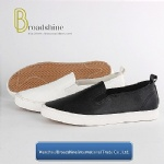 Plain PU Casual Women's Footwear with Vulcanized Sole