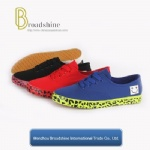 New Design Canvas Shoe with Printing Foxing