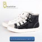 Hot Sale High Cutting PU Ladies' Sneaker with Rubber Sole
