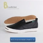 Classical PU Slip-on Casual Men's Footwear with Vulcanized Outsole