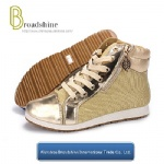 Metallic Style High-Top Women Casual Boots
