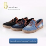 Designed Casual Men's Footwear with Washed Jean Upper