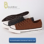 Classical Low Cutting Canvas Shoes with Worsted Upper for Winter